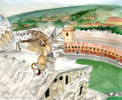 The Gryphons of Pisa by GoldeenHerself