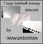 7 large notebook textures by xsleepingswanx