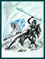GRIMMJOW VS ULQUIORRA by PlAbOnDRAGON