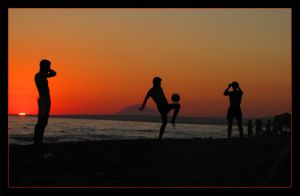 Sunset Beach Soccer by TimeFuse