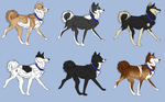 Husky Imports - Working Dogs (open) by LadyLirriea