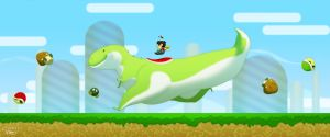 Mario and Yoshi by pacman23