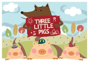three little pigs by noodlekiddo