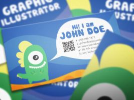 Graphic monster business card design by Lemongraphic