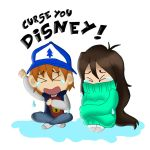 Watching the end of Gravity Falls like.... by AliAvian