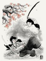 The samurai's wife by AlexFage