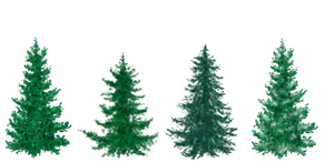 Free Painted Christmas Trees by silverbeam