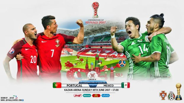 PORTUGAL - MEXICO CONFEDERATIONS CUP RUSSIA 2017 by jafarjeef