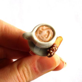 Latte Art and Biscotti Ring by FatallyFeminine