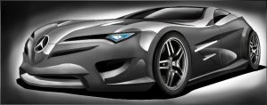 Mercedes LC Concept Photoshop CS5 Design Rendering by toyonda