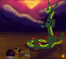 Rayquaza Boss Battle by xFoxblaze