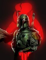 Boba Fett Colored by jasonbaroody