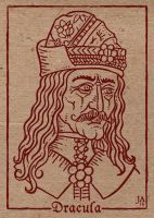 Vlad Tepes Silkscreen Postcard 4x6 by JesseAcosta