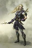 Female Elf Pathfinder by TARGETE