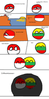 Polandball is forever alone. by Theeywillnotforceeus