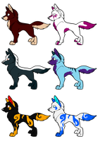 CLOSED Group Adoptables 5 by kaleidoscopial