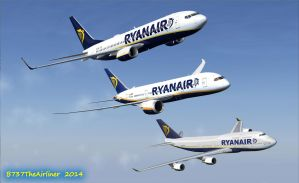 Ryanair and Friends by B737TheAirliner