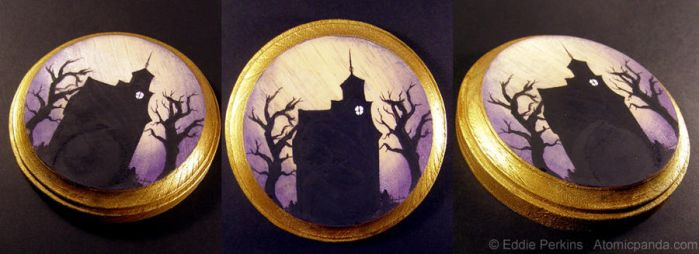 Haunted House mini plaque by EddiePerkins