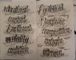Moleskine Lettering  5 by 12KathyLees12