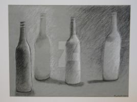 D1 - Black and White Bottles by Artistic-Vixen