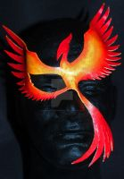 Leather Phoenix mask by themotleymasquerade