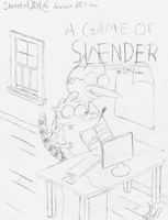 A Game of Slender! (Sketched Title Page Comic) by SketchedJDII
