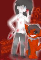 Smile dog and Jeff the killer by Bibi-AdelineX3