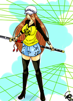 Trafalgar Law (girl version) by okiro-naze
