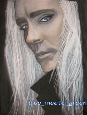 Lee Pace as THRANDUIL WATERCOLOR PAINTING by HelloBlueMeetsGreen