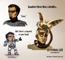 Clone Wars Doodles... by ZetsubouZed