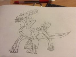 Dialga Sketch by Blackusurp