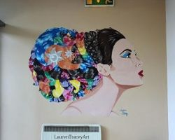 Salon Mural by LaurenTraceyArt