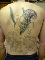 alien tattoo progress by DREAMandDIFFER