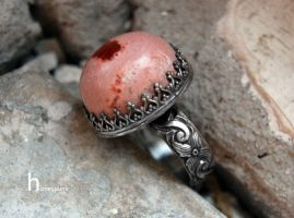 handmade ring with opal by honeypunk