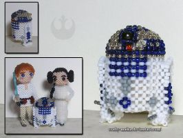 Beaded doll: R2-D2 by crafty-maika