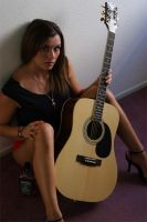 Model and Guitar by James-T-Anthony