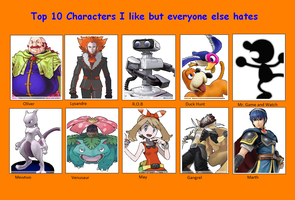 Characters I Love but People Hate by darkglaicalknight