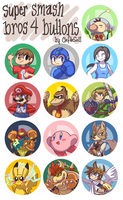 Super Smash Bros 4 Buttons by ClefdeSoll