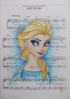 Elsa  on LET IT GO sheet music by ARTIEFISHEL79