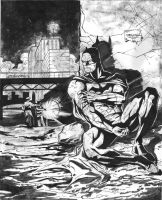 Batman wounded by ablos1