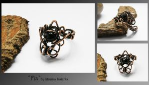 Fia- wire wrapped ring by mea00