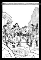 ghostbusters bw by fabiomantovani