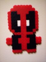 Deadpool Perler by ChibiLoveXD