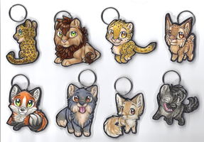 Keychains - Wild mammals collection 1 by therougecat