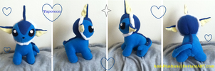 Chibi Standing Vaporeon Plushie Commission by Ami-Plushies