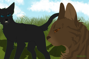 Leafpool X Crowfeather by Nharlie