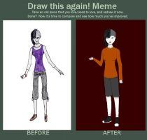 Before and After Meme, The Living Doll by Gothalla123
