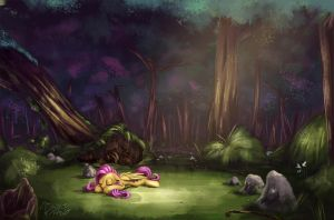 Dreamy forest by InsaneRoboCat