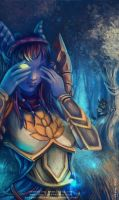 Draenei and Worgen by Morgan-chane