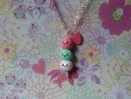Odango Necklace by CharmingLittleFox